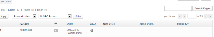 Wordpress search Box