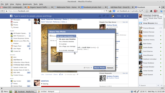 facebook chat step 2
